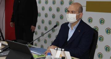 Bakan Soylu'dan İzmir'de değerlendirme ve koordinasyon toplantısı