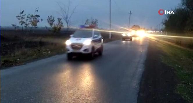 Rus barış gücüne ait askeri araçlar demiryolu ile Azerbaycan'a ulaştı